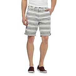 Red Herring - Multi-coloured textured stripe shorts