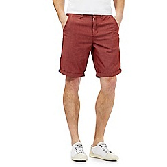 Red Herring - Red pin dot chino shorts