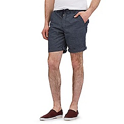 Red Herring - Navy fine stripe beach shorts