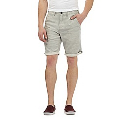 Red Herring - Grey marl chino shorts