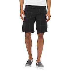 Red Herring - Black checked print shorts