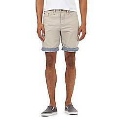 Red Herring - Beige roll up hem shorts