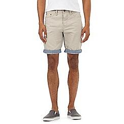 Red Herring - Beige roll up hem shorts