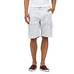 Red Herring - White pindot cargo shorts