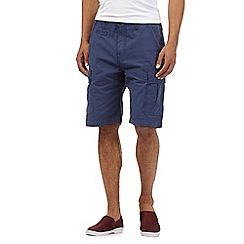 Red Herring - Blue gingham cargo shorts