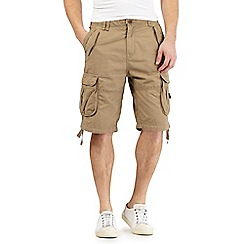 St George by Duffer - Big and tall beige cargo shorts