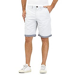 St George by Duffer - Light grey fine stripe print chino shorts