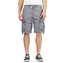 St George by Duffer - Light grey cargo shorts