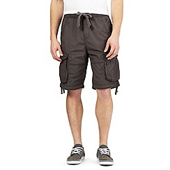 St George by Duffer - Big and tall dark grey cargo shorts