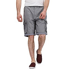 St George by Duffer - Big and tall grey striped cargo shorts