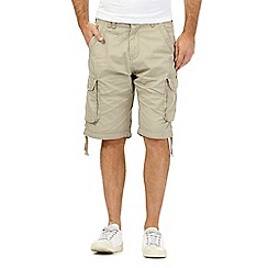 St George by Duffer - Beige check print cargo shorts