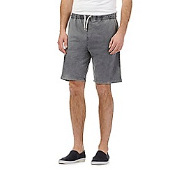 Red Herring - Grey wash-effect jersey shorts