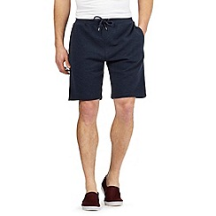 Red Herring - Navy ribbed jersey shorts