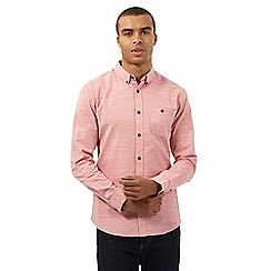 Red Herring - Dark pink fine stripe print shirt