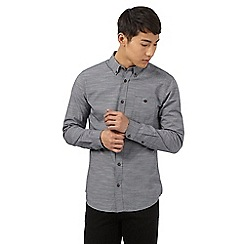 Red Herring - Grey fine stripe print shirt