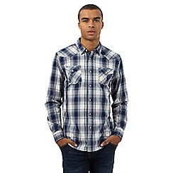 Red Herring - Navy checked print shirt