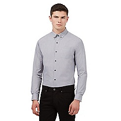 Red Herring - Grey dogtooth print slim fit shirt