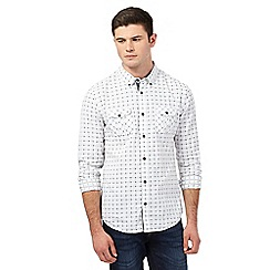 Red Herring - White dotted checked print shirt