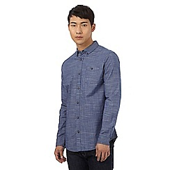 Red Herring - Blue marl texture slim shirt