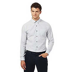Red Herring - Grey fine striped regular fit shirt