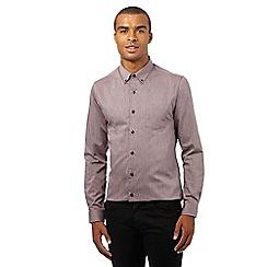 Red Herring - Purple textured slim fit shirtß