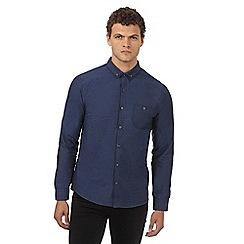 Red Herring - Blue pin dot button down shirt