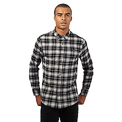 Red Herring - Grey checked print slim fit shirtá