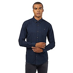 Red Herring - Navy textured slim fit shirt