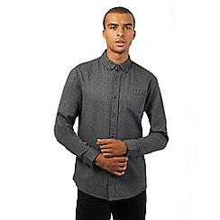 Red Herring - Dark grey textured slim fit shirt