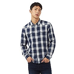 Red Herring - Blue checked print western shirt
