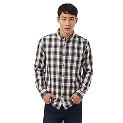 Red Herring - Navy plaid button-up shirt