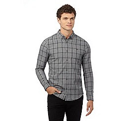 Red Herring - Grey window check slim fit shirt