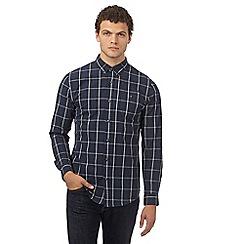 Red Herring - Navy checked regular fit shirt