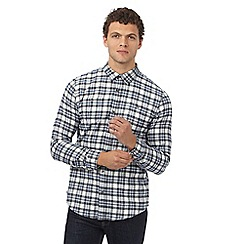 Red Herring - White checked slim fit flannel shirt