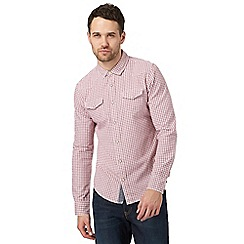 Red Herring - Red gingham print slim fit shirt