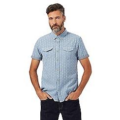 Red Herring - Blue dobby striped shirt