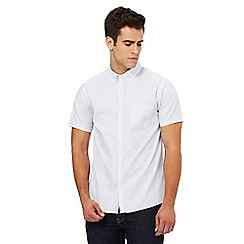 Red Herring - White textured dot double collar slim fit shirt