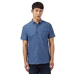 Red Herring - Short sleeve blue textured shirt