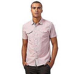 Red Herring - Red grindle gingham print slim fit shirt