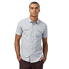 Red Herring - Blue grindle gingham print slim fit shirt