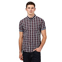 Red Herring - Red checked print slim fit shirt