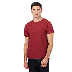 Red Herring - Red ribbed crew neck t-shirt