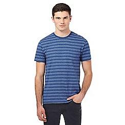 Red Herring - Blue jacquard striped t-shirt