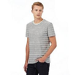 Red Herring - Beige textured stripe pocket t-shirt