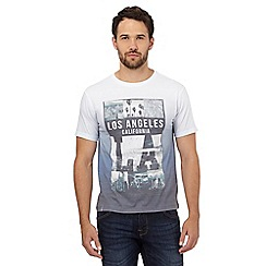 Red Herring - Blue 'LA' print t-shirt