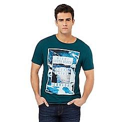 Red Herring - Green 'Miami South Beach' print t-shirt