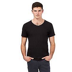 Red Herring - Black basic V-neck t-shirt