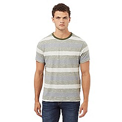 Red Herring - Grey and khaki striped print t-shirt