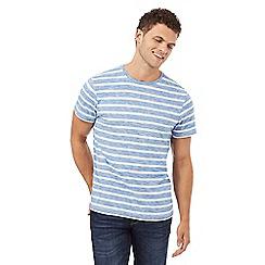 Red Herring - Bright blue thin striped print t-shirt