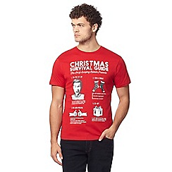 Red Herring - Red 'Christmas Survival' t-shirt